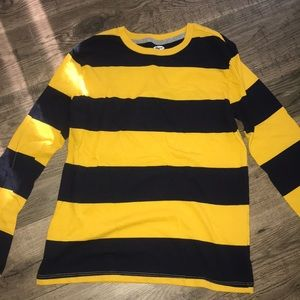Old Navy yellow and blue stripe shirt